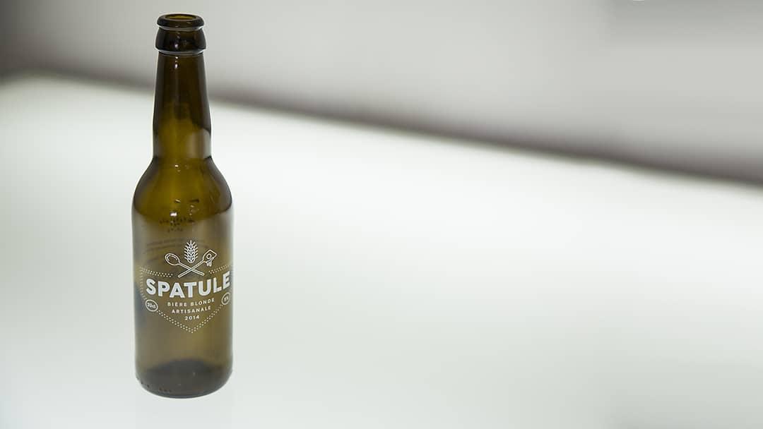 Bouteille de bière Spatule - Impression cylindrique