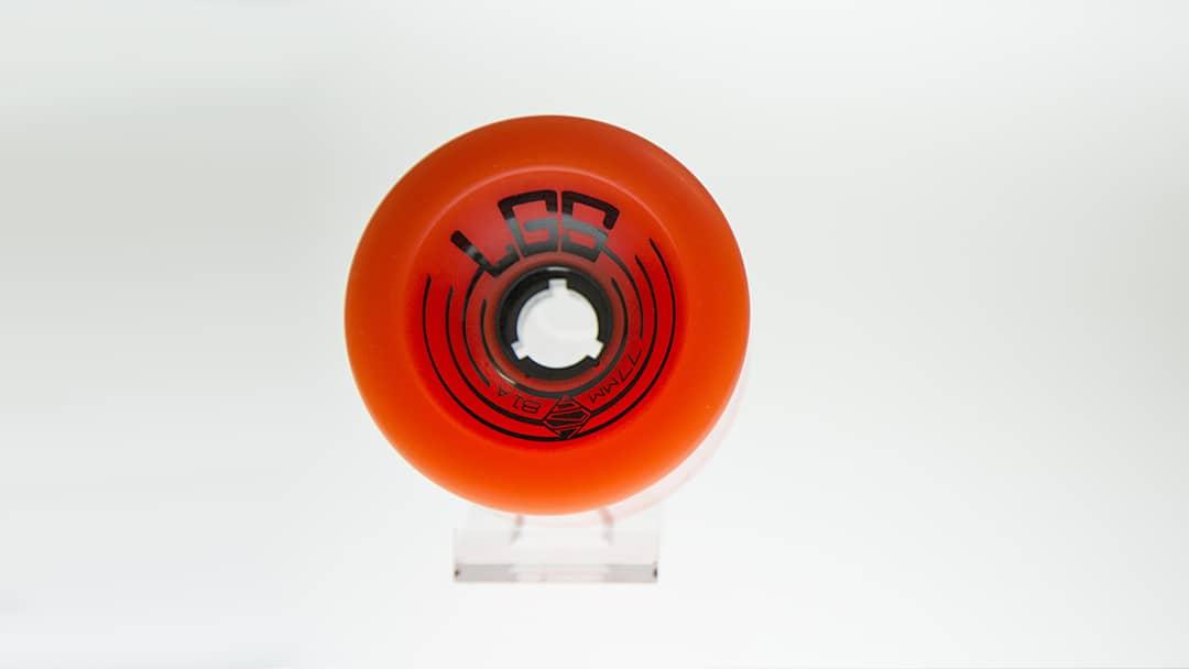 Roue de skateboard LGS - Tampographie sur plastique - Imprimeur Mabasi