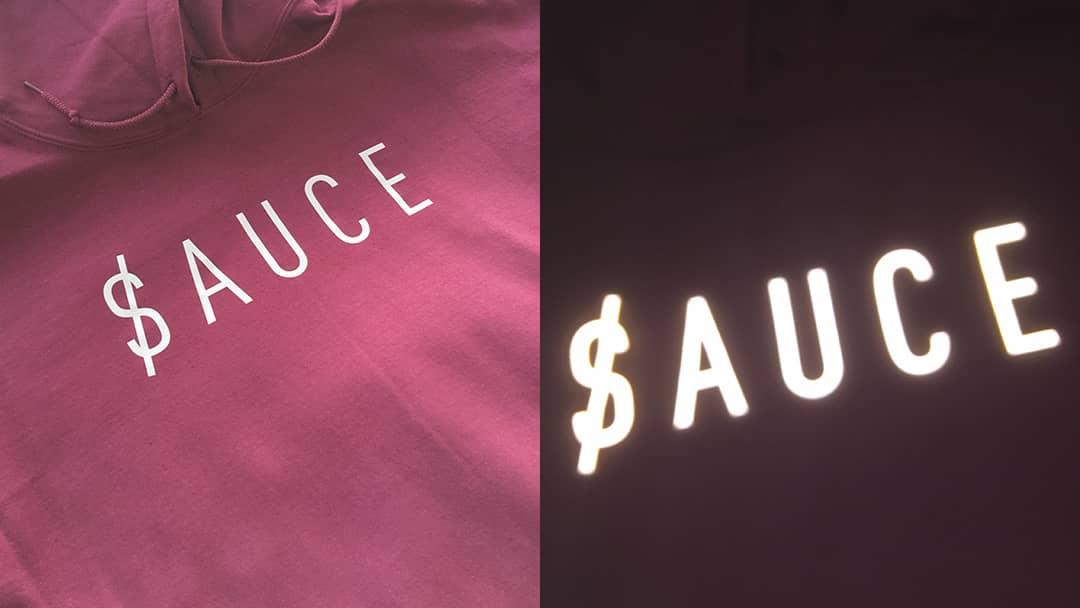Sweatshirt Sauce Store - Découpe de lettre