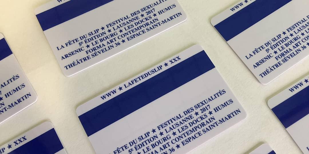 Carte PVC La Fête Du Slip - Impression Mabasi Lab