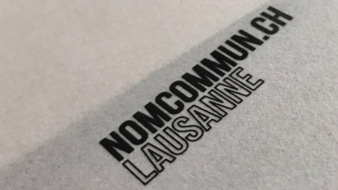 Etiquettes papier Nom Commun