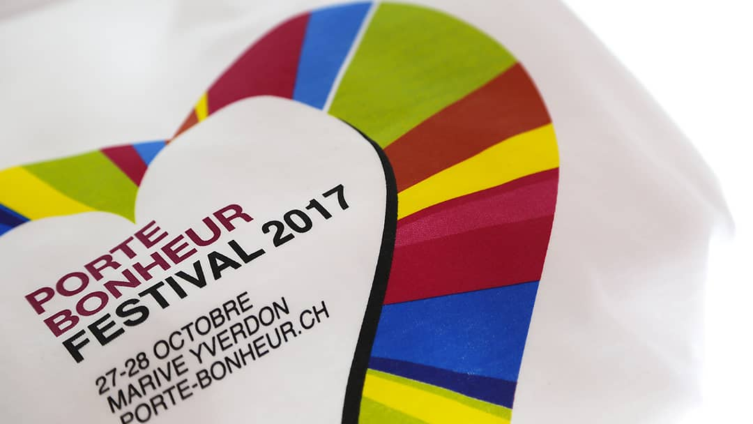 T-shirt Porte Bonheur Festival 2017 - Quadrichromie - Impression directe