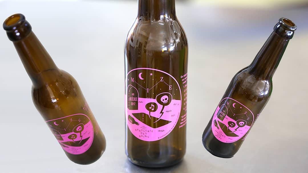 Bouteille de bière Brasserie des Bains